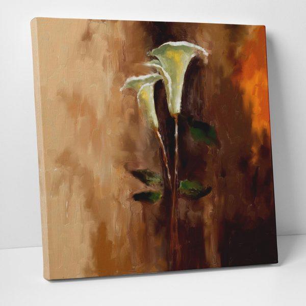 Zambak Çiçeği Kanvas Tablo