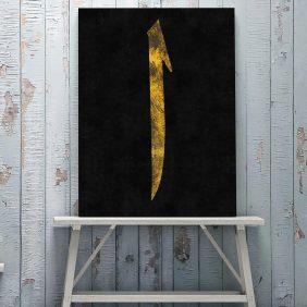 elif harfi kanvas tablo satın al