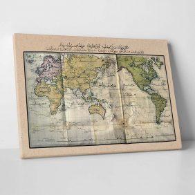 Osmanlıca Dünya Haritası