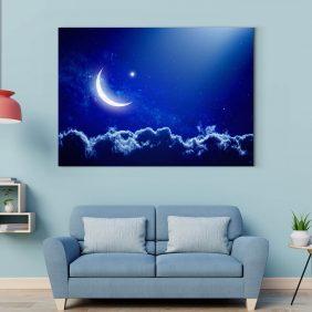 ay yıldız gökyüzü tablo